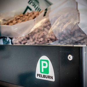 Pelburn træpillefyr produceret af JP Maskinfabrik